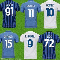 Мужчины Atalanta FC Soccer Trackss Gomez 2020 21 Muriel Ilicic de Roon Duvan Atalanta BC Maglia da Calcio Men Kids Kit Футбольные рубашки Униформа