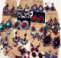 Mix Styles Colors 10Pairs Lot Fashion Dangle Chandelier Earrings For Woman DIY Gift Craft Jewelry EA09