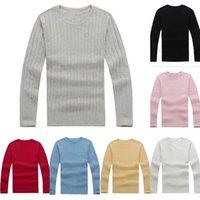 2021 Nova Milha de Alta Qualidade Wile Polo Camisola Marca Mens Mulheres Twist Malha Algodão Jumper Pullover Sweater Pequeno Cavalo Jogo Mulheres Manga Longa
