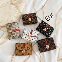 Çocuk çantaları moda tasarımcısı çiçek mini kare güzel pop kız prenses messenger çanta aksesuarları çanta cüzdan çanta G31908