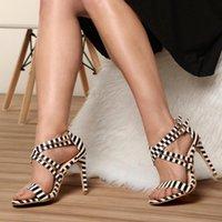 Платье обувь Женщины Санссы Летние Сексуальные Тонкие высокие каблуки Дамы Открытые Новые Сандалии Вечеринки Насосы Chaussure Femme Женщина Zapatos Mujer