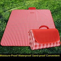 Outdoor Pads Thickened Picnic Mat Portable Spring Outing Waterproof Folding Oxford Cloth Plaid Moisture Proof Pad