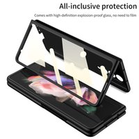 Front Tempered Glass Film Cell Phone Cases for Samsung galaxy Z Fold 3 5G Ultra Thin Matte Hard Plastic Slim Full Protective Cover