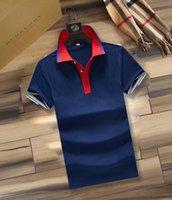2021Luxury Europeu Paris Patchwork Polo Camisa Bee Snake Men's T-shirt Clássico Moda Casal Desgaste High Street Liga Bordada Bordada Certa Algodão Impressão Marca