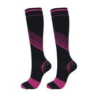 Esportes meias varizes veias perna mulheres homens relevo dor joelho altas meias compressão para