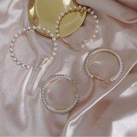 s925 argent aiguille cerceau boucles d'oreilles personnalité perle cercle huggie boucle d'oreille exagérée tempérament de tempérament sauvage mode rond hook hooks bijoux cadeau
