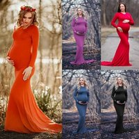 Women Maternity Photography Dress Floor Length Milk silk Long Dress for Mother Pregnancy Dress Gown Pregnant Clothes New H0902