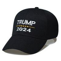 Stati Uniti stock 2021 Regali del partito Trump 2024 Poliestere Berretto da baseball Cappello Cinque stelle per le donne Nero Rosso Si adatta tutto