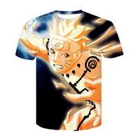T-shirts hommes Animation Nouveau 2021 Feux Summer Shadow Naruto Kakasi 3D Numérique Imprimé pour enfants