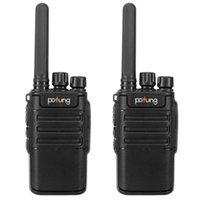Pofung Walkie Talkie USB 2PCS F8 2W 1500MAH 16-قناة أسود لوحة قابلة للفصل هوائي ثابت شاحن متكامل الكبار التناظرية