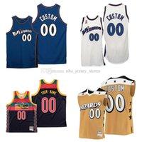 Jersey de baloncesto cosido personalizado Bradley Beal # 3 Wall # 2 Cualquier número Número Mitchell Ness Hardwoods Classics Retro Jerseys Hombres Mujeres Jóvenes S-6XL