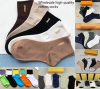 Mens Womens Sport Socken 100% Baumwolle Großhandel Paare 7 Farben Socke lang und rohrförmig mit Kasten