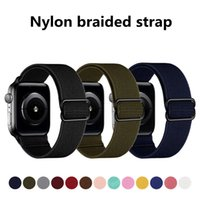 2021 Elastic Strap for Apple Watch Band 42 44mm braid Nylon Solo Loop Bracelet iwatch 42mm Series 5 4 3 38 40mm