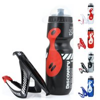 Water Bottles & Cages 650ML Mountain Bike Bicycle Cycling Drink Bottle+Holder Cage Outdoor Sports Plastic Portable Kettle Bottle Drinkware