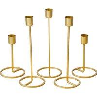 Titulares de vela Metal Ouro Castiçal Fashion Fashion Stand Requintado Mesa de Natal Decoração Home