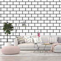 Wallpapers 3D White Brick Wallpaper Home Decor Peel And Stick Wall Sticker Self Adhesive Paper Roll For Living Room TV Background
