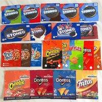 Geziler Ahoy Maddibeler Stono Çanta Yeni Gelenler Cheetos Deritos Ruffles Yükseliş Krispies Yemekleri Çikolatalı Çikolata Snacks Chip Kurabiye Mylar Fermuar Ambalaj