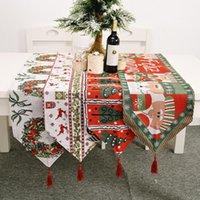 Vacanza invernale Buon Natale Tavolo da tavolo Runner per Morgen Giardino Giardino Giardino da sposa Tavolo da sposa Decorazioni