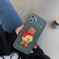 Stereoscopic scarf backpack bear phone cases color button lens full package for iPhone 12 11 pro promax X XS Max 7 8 Plus