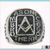 Fanssteel Stainless Steel Mens Or Wemens Jewelry Masonary Master Mason Brotherhood Square And Ruler Masonic Ring Gift 11W15 1Ij8I Ysh6Z