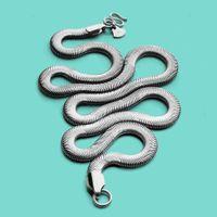 Itália 925 Colar - Corrente de cobra especial 46-71cm-esterlinas colar de prata acessórios de festa-moda jóias masculinas