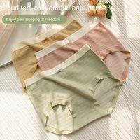 Women's Panties Underwear Sexy Lace Plus Size Fashion Comfort Solid Color Briefs Mid Waist Seamless Underpants Lingerie