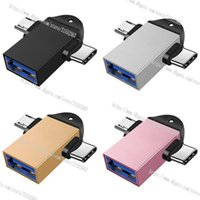 OTG Adapter Type-C Micro USB 2 in 1 Android Phone Adapter Tablet PC OTG Adapter Cable, For Samsung Huawei