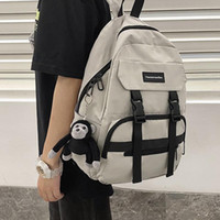 Women White School Bags For Teenage Girls Anti-theft Travel Casual Knapsack Large Capacity Fashion Tote Backpack