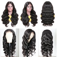 13*4 Lace Front Human Hair Wigs Pre Plucked Brazilian Body Wave Wig Malaysia Bleach Knots Big Wavy 1b Natural Color