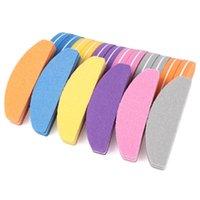 Fichiers à ongles 50pcs Mini Sponge Fichier 100/180 Coloré Buffer Block Professionnel Curved Art Poblage UV Polonais Manucure Outils