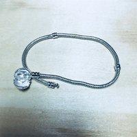 1 قطع انخفاض الشحن مصنع الفضة مطلي القلب أساور ثعبان سلسلة صالح ل باندورا الإسورة سوار النساء الأطفال هدية B002 58 R2