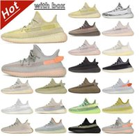 Kutu 2021 Kanye ileBatıAyakkabı Kül Mavi Taş Asriel Kükürt Israfil Zebra Krem Beyaz Marsh Keten Siyah Statik Yansıtıcı Koşu Ayakkabıları Erkek Kadın Sneakers Eğitmenler