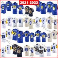 2021-2022 Jerseys de futebol 2 Robert Woods 5 Jalen Ramsey 9 Matthew Stafford 10 Cooper Kupp 99 Aaron Donald