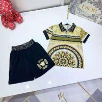 kid boy girl summer clothes sets flower designer child sport clothing 110-160 cm baby toddler outfits 2021