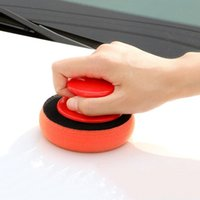 Car Sponge 5Pcs Set Wax Wash Polish Pad Cleaning Foam Kit Terry Cloth Microfiber Applicator Pads W  Gripper Handle Car-Styling