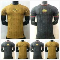 Versione del giocatore Egitto 2021 2022 Jersey di calcio M. Salah Yellow Black Training Suit 21 22 Kahraba A. Hegazi Ramadan M.Elneny Uniforme Jerseys Kit camicie da footbal