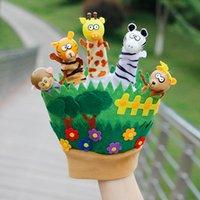 Enfants animal dessin animé marionnette doigts marionnettes pour enfants bébé animaux gants poupées jouets histoires de vacances Fantoche famille jeu
