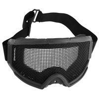 Vente en gros adultes Airsoft Tactical Eyes Protection Métal Maille lunettes Goggle Sports de plein air Randonnée Chasse Chasse Eyewear Accessoires
