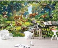 Wallpapers 3d Po Wallpaper Custom Mural Animal World Elk Otter Tortoise Children's Room For Walls In Rolls Home Decor