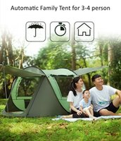 Tents And Shelters One-touch Camping Tent 4 Seasons Multifunction For 3-4 Person Tourist Two Layer Travel Throw Outdoor
