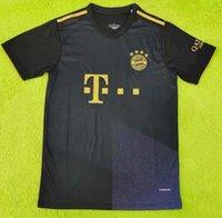21 22 22 Bayern Soccer Jersey Lewandowski Sane Monaco di Baviera Coman Muller Davies Camicia da calcio 2021 Humanrace quarto 4
