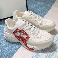 Rhyton кроссовки винтаж чувствуют женскую обувь супер большой холст светоотражающий отделка дизайнерский дизайнер спорт папа мини-жаккардовый толстый здоровая мужская повседневная обувь