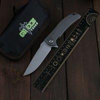 Green Thorn leverkill FIN быстрый открытый D2 Blade Titanium Isloy Ручка для кемпинга Открытый Нож выживания Практичный нож EDC Инструмент