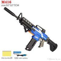 Erkek oyuncak tabanca oyuncaklar çocuk yetişkin elektrikli silahlar M416 model çekim erkek doğum günü hediyesi interaktif sniper plastik