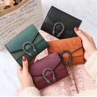 Дизайнерские кошельки маленький кошелек женский короткий ретро-разные изменения красный черный зеленый коричневый чистый цвет мини женские сумки завод