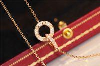 Luxusdesigner Halskette Klassische Kreis Designer Schmuck Mode Womens Halskette für Frauen Top Qualität Diamant Halskette