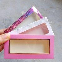 False Eyelashes Wholesale Paper Eyelash Packaging Box Lash Boxes Custom Logo 25mm Mink Marble Case
