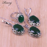 Earrings & Necklace Many Colors Big Heart Oval Crystal Zircon Silver Color Jewelry Adjustable Ring Set Bridal