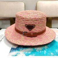 Mulheres largo borda chapéu palha balde chapéu triângulo designers caps chapéus mulheres moda praia bonnet casquette de beanie