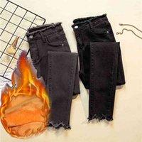 Jeans de cintura alta Pantalones de mezclilla femenina 5XL PLUS Código Pantalones vaqueros para mujer Donna Estirar fondos Feminino Pantalones flacos para mujeres Treuse 210326